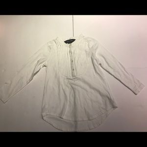 VGUC Ralph Lauren White Bibbed Shirt 3T